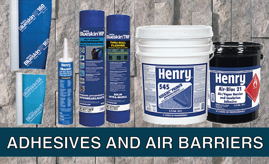 adhesives and air barriers - stone background