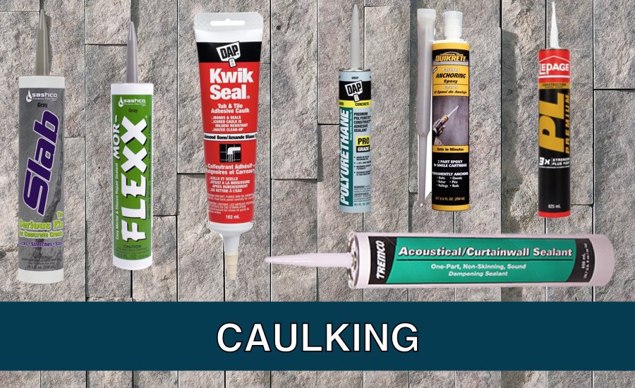 stone background - caulking